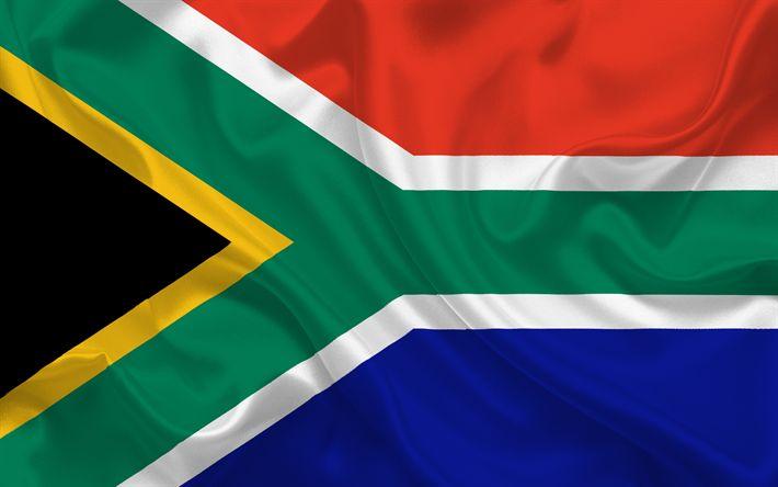 Herunterladen hintergrundbild südafrika flagge, seide, afrika, flaggen der welt