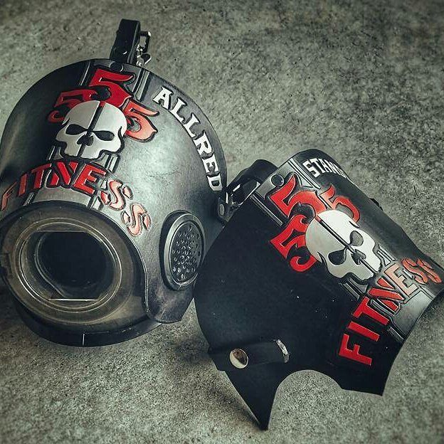 """OFTEN IMITATED NEVER DUPLICATED  - The """"others"""" are starting to catch on. But you can still get yours from the original. - @Regrann from @rdancox -  Some #555fitness mask covers finished up and heading out. Now back to work! #callahanbros #SCBA #firefighter #leathercraft #leatherwork #diy #craftsman #gettowork ________________________________________  Want to be featured? Show us how you train hard and do work   Use #555fitness in your post.  #assaultbike #bornprimitive #madfitter…"""