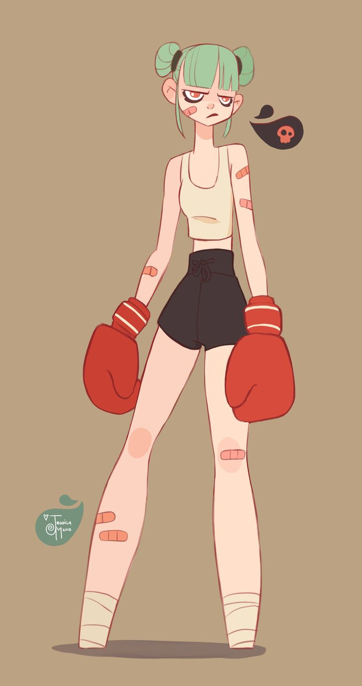 tied busty 2girl  Angry Girl Boxer by MeoMai