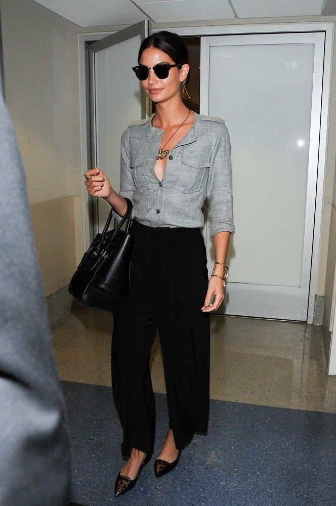 Lily Aldridge Photos: Lily Aldridge Arrives at LAX