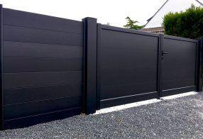 portail et clôture en aluminium Arbor minéral paysagiste Vannes Baden morbihan