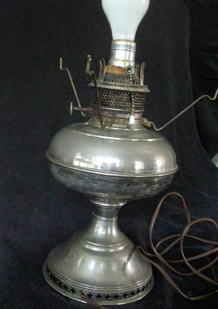 Antique B&H oil lamp converted to electric, working by ZydecoBeads on Etsy
