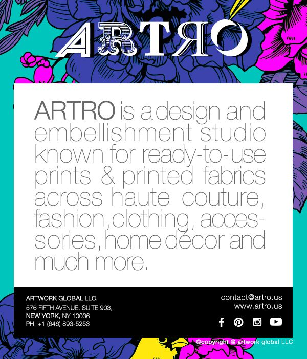 """ Vision is the art of seeing what is invisible to others"" - defines ARTRO .#Art #Fashion #fashioninspiration #premiumvision #arte #newyork #paris #design #prints #embellishment #accessories #Homedecor #designer"