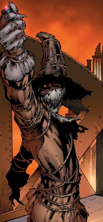 This is the Scarecrow from Batman. What I like about this character is how he wears an outfit that fits his alias, to make him appear more sinister. I could implement this into my boss, as it could have an alias, where it will wear a matching outfit.