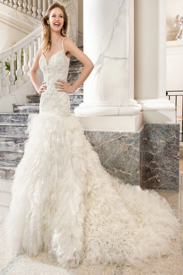 Demetrios Couture Bridal.Sleeveless,Sweetjeart,Floor Length,Tulle.