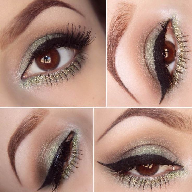 LA Colors Cosmetics . Green Makeup
