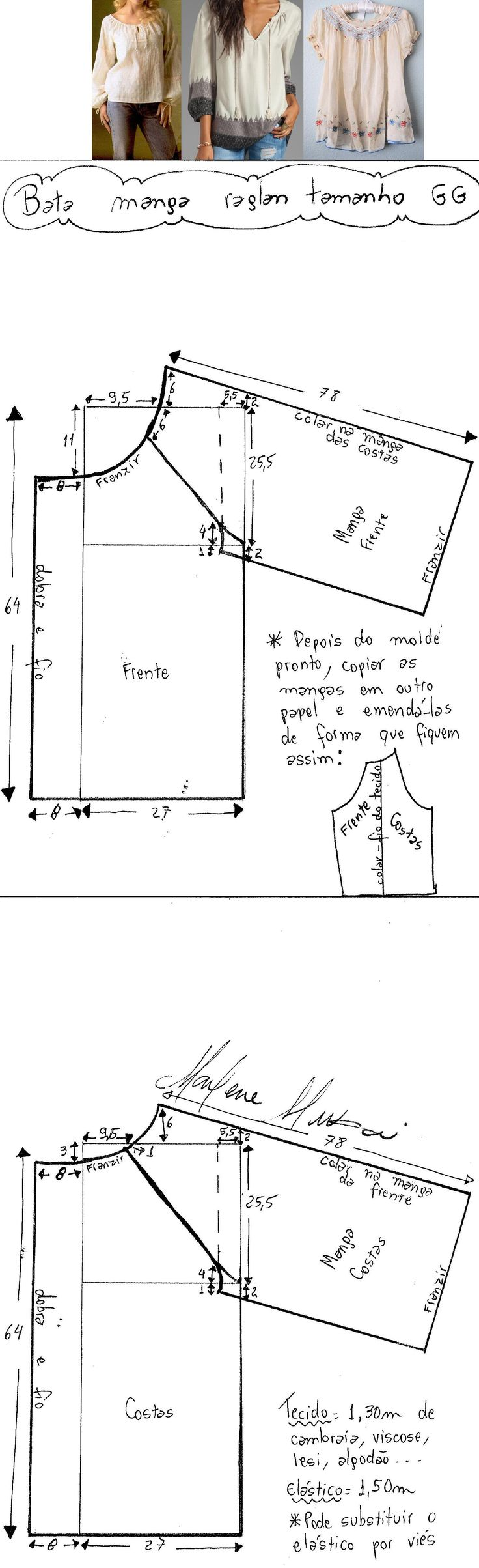 Bata anos 70 raglan – DIY – molde, corte e costura – Marlene Mukai. Um modelinho clássico que vai e volta. Fiz modelagem do PP ao EXGG com manga comprida, mas pode ser feita com manga curta.