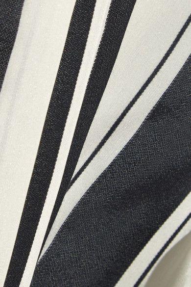 Haider Ackermann - Pleated Striped Silk Shirt - Black - FR42