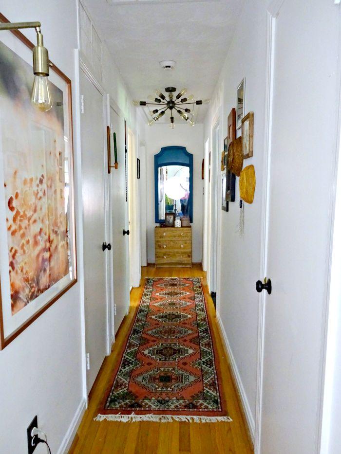 boho eclectic hallway