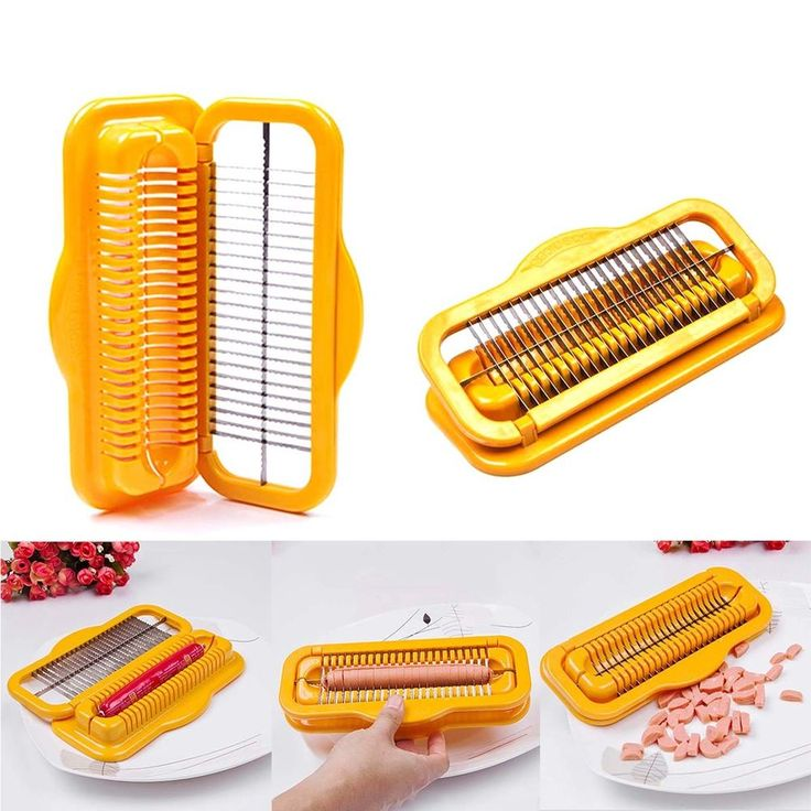 Hot Dog Cutter Slicer Safe Machine Creative Kitchenware Sausage Stainless Steel #Unbranded