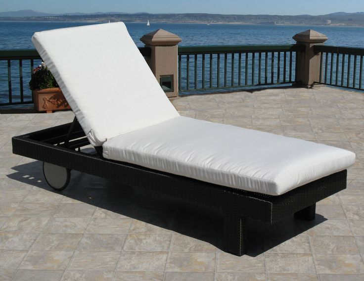 outdoor patio chaise lounge replacement cushion pad choice of sunbrella fabrics - Sunbrella Furniture