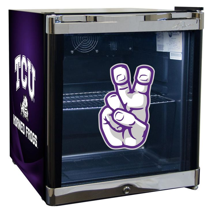 TCU Horned Frogs Refrigerated Beverage Center with Glass Door