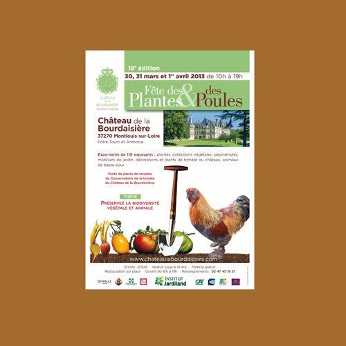 CHATEAU DE LA BOURDAISIERE : 19ème édition de la Fête des Plantes et des Poules