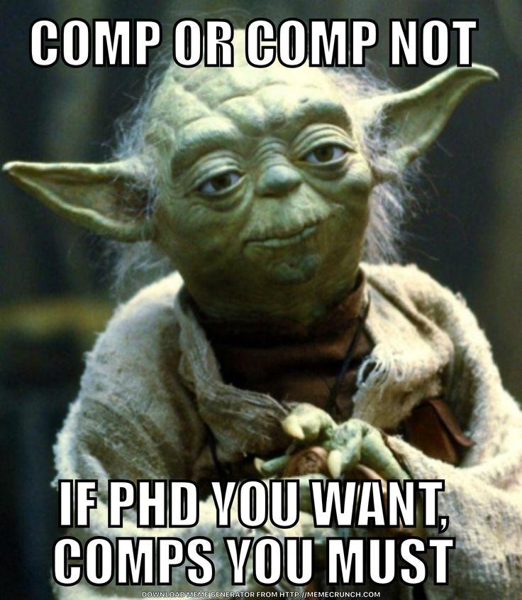 Yoga comps PhD meme