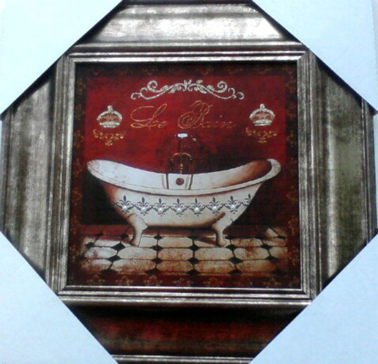 Bathroom le bain victorian tub gold burgundy silver