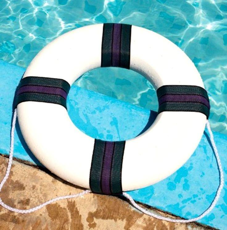 Swimline Pool Foam Ring Pool Buoy Boat Safety Equipment Tow Rope Watercraft New #Swimline