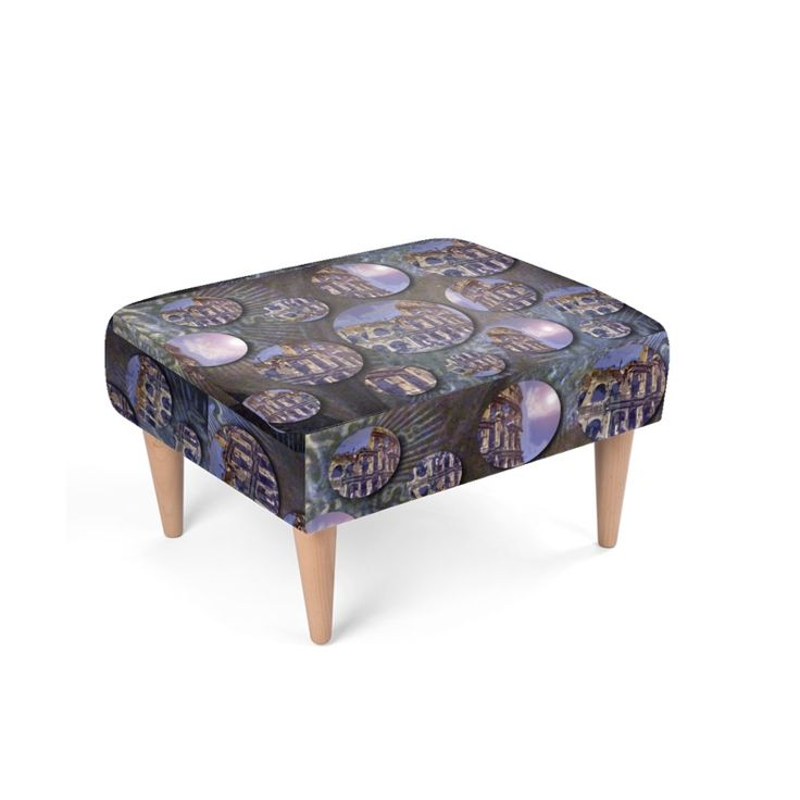 """Colosseo"" Stool  -  50x63x40cm (leg size 23x6cmØ) Soft padding Guaranteed 10 years."