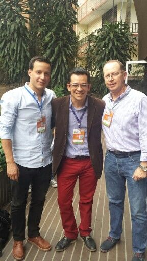 Los gerentes de patrocinios y marca de Bavaria. Jorge Velasquez y Carlos Saldarriaga. Los que si saben de patrocinio y marketing deportivo