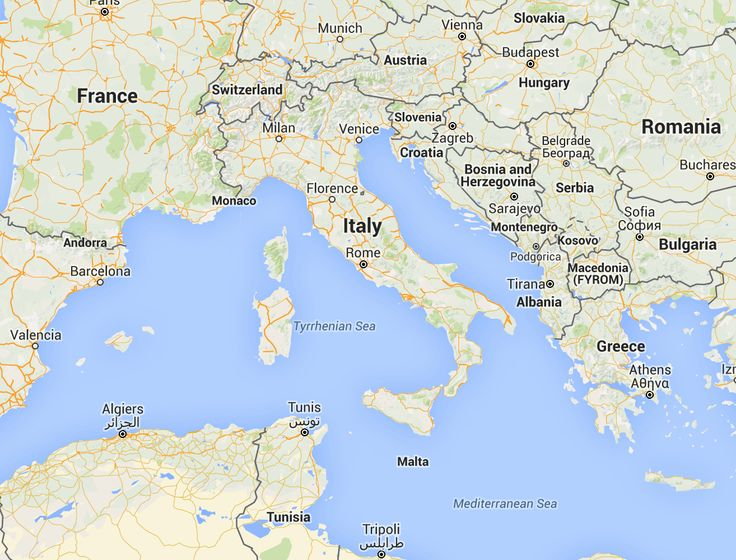Detailed map of Italy with hundreds of places to visit
