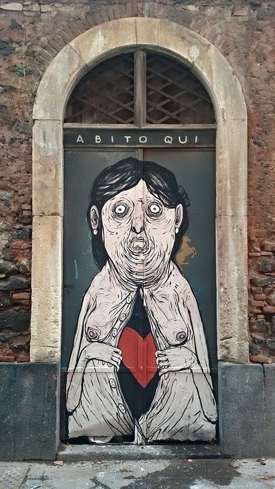 """NemO's, """"ABITO QUI"""" in San Berillo, Catania, Italy, 2016"""