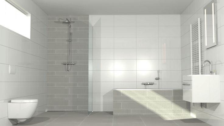 Tegel inspiratie badkamer google zoeken badkamer pinterest met and search - Witte matte tegel ...
