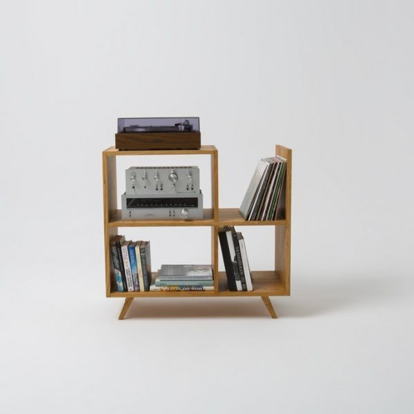 handmade shelf for audio- or booklovers
