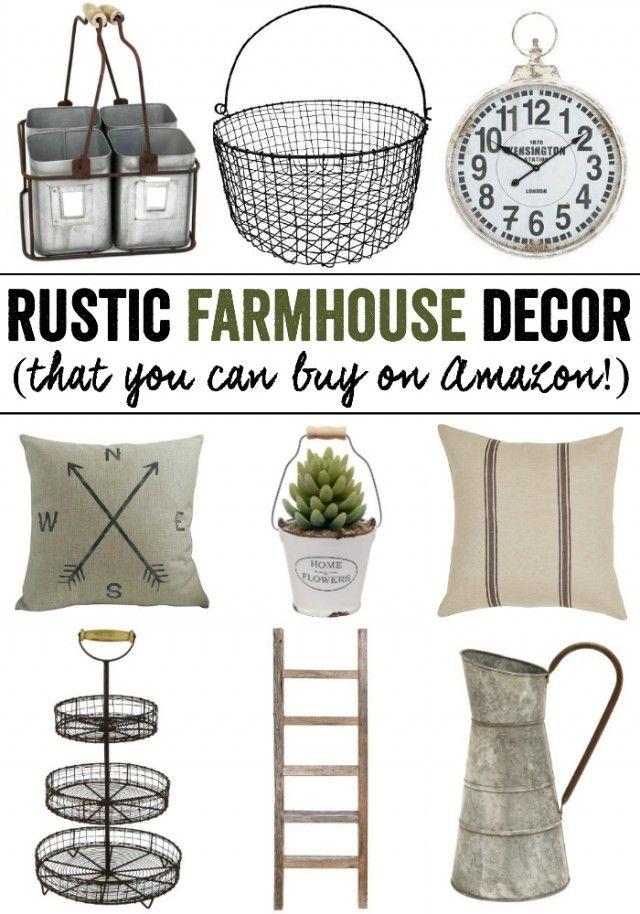 Rustic Farmhouse Decor from Amazon Rustic farmhouse decor