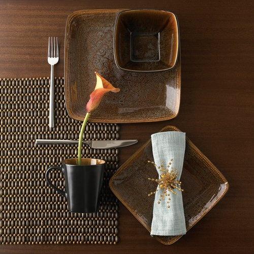 Hometrends Atlas 16-piece Dinnerware Set, Reactive Glaze Stoneware Dinnerware, Microwave Safe Dinnerware Set, Contemporary Dinnerware Set