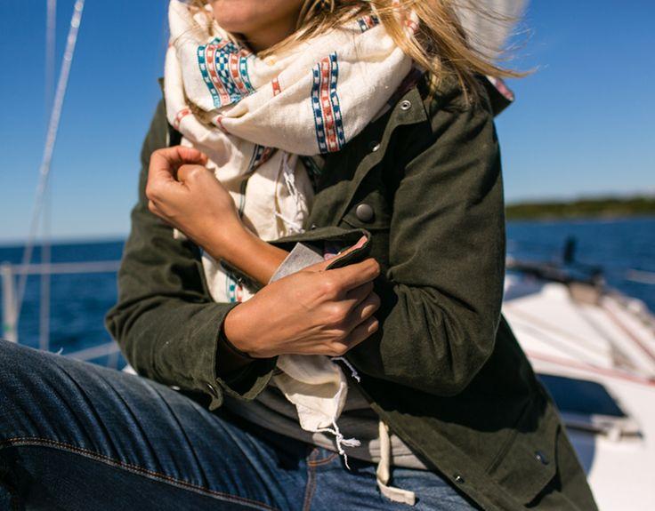 Olive jacket & scarf