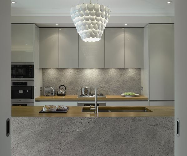 Roundhouse grey bespoke kitchen in a contemporary style