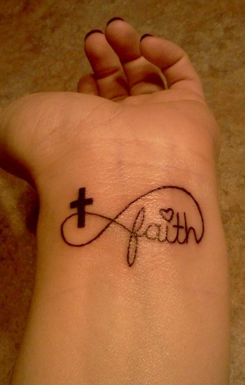 Faith Infinity Tattoo. #lovethis #faith #infinity