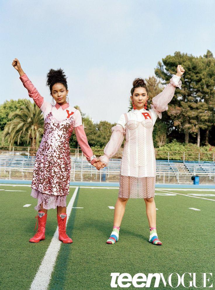 Rowan Blanchard and Yara Shahidi // Teen Vogue Magazine