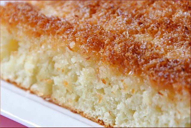 Изумительный кокосовый пирог со сливками! Для настоящих сладкоежек :)