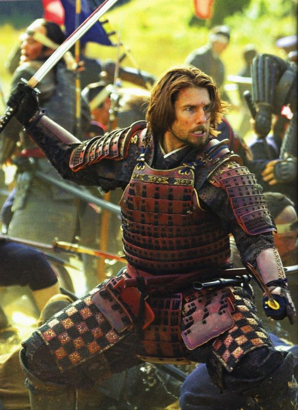 "Tom Cruise in ""The Last Samurai"". I always get caught up watching this movie when it come on.  The story tragic but noble.  It's a great drama and action movie.  And the landscape is beautiful."