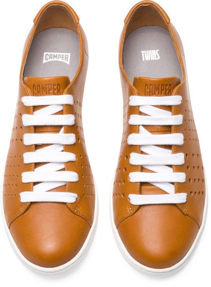 3ce239d4d11d0 Camper Twins Brown Flat Shoes Women K200636-003   Shoes in 2019 ...