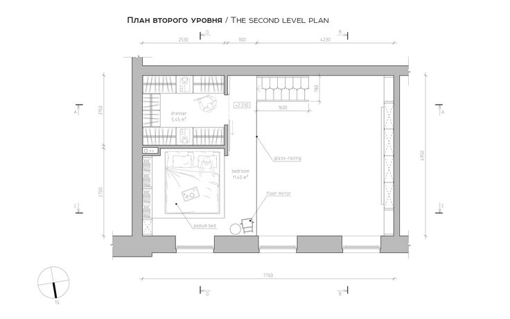 Haruki's apartment | A Super Small Apartment That Adapts To Its Owner's Needs by #TheGoort (Mariupol, Ukraine, 2015) [ interior design idea | plan | diagram | drawing | scheme | ground plan | furniture plan | small spaces | tiny ]