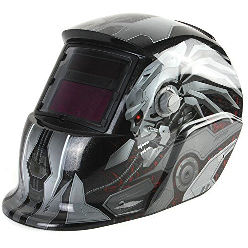GLIME Solar Auto Darkening Welding Helmet Sensitivity Adjustable Welder Mask with TIG MIG Lens Grinding  ★ Sensitivity (based on current dimensions of welding): Adjustable: low / high, external shade and adjustable sensitivity, allowing the operator to operate more easily.  ★ Response time (bright to dark): <1/30000 seconds (normal temperature conditions), the light response and its sensitivity, do not have to worry about the light problems will cause eye damage.  ★ Mask material: PP. ...