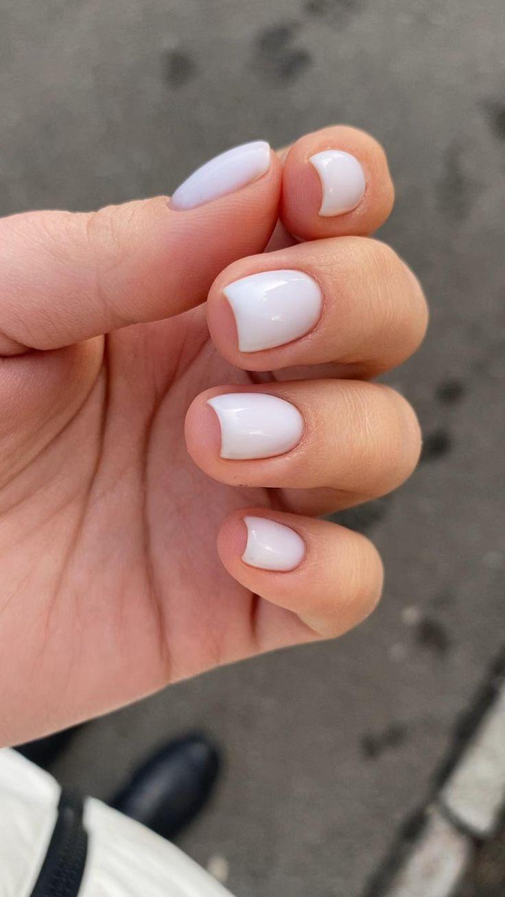 [Видео] «Milk nail» в 2021 г | Нейтральные ногти, Гелевые ногти, Короткие гелевые ногти