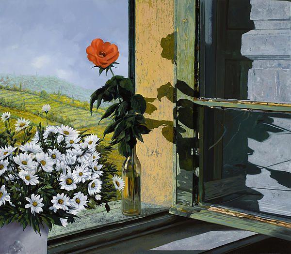 La Rosa Alla Finestra by Guido Borelli