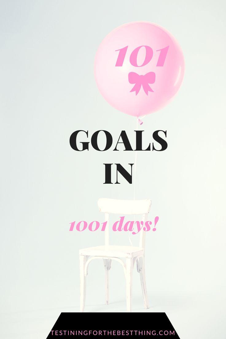 101 in 1001 - 101 goals in 1001 days! #goals #bucketlist #girlboss…
