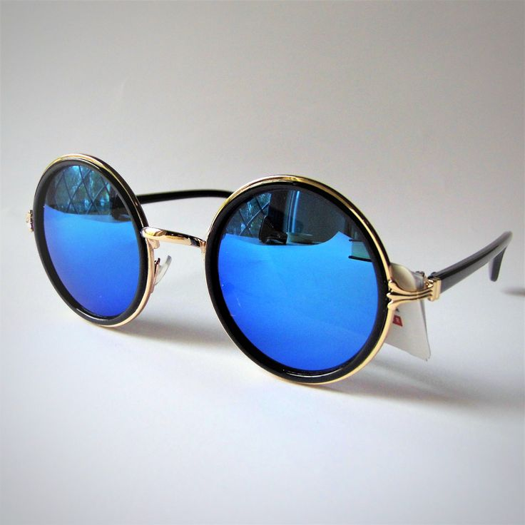 Occhiali da sole rotondi - Gold Frame