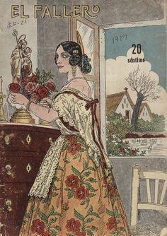 Cubierta de la revista El fallero,  nº 9, año 1929