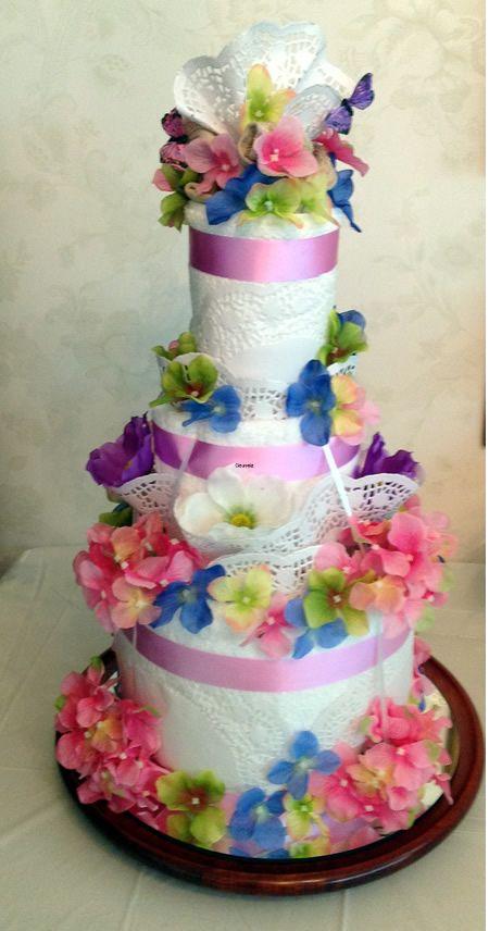 Best 25 Wedding Towel Cakes Ideas On Pinterest Rainbow