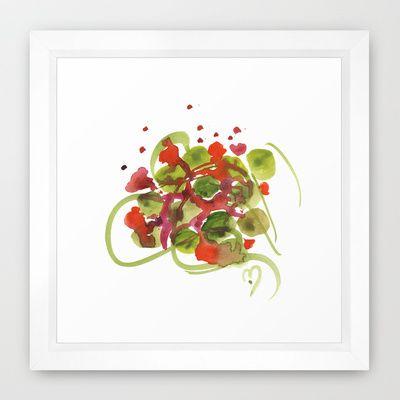 Atom Flowers #38 Framed Art Print