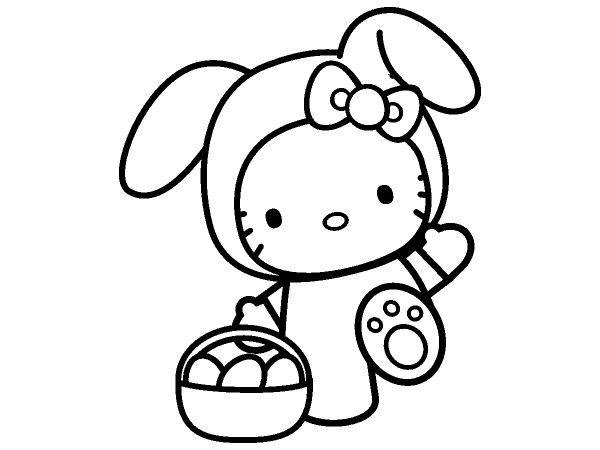 Hello Kitty Easter Coloring Pages Free Printable Page Cute Mermaid 30 Best Images On Pinterest Print