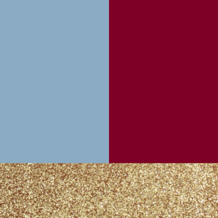 Wedding colors.. Dusty blue, cranberry, and gold accents