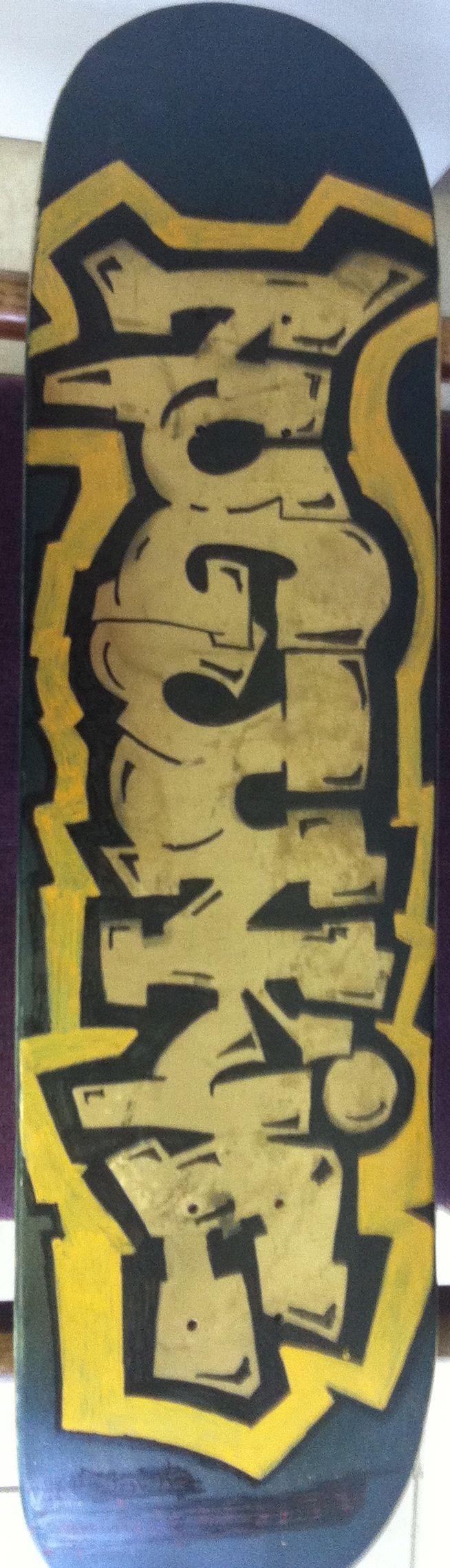 hand painted  nugjunkie skate board 90.00
