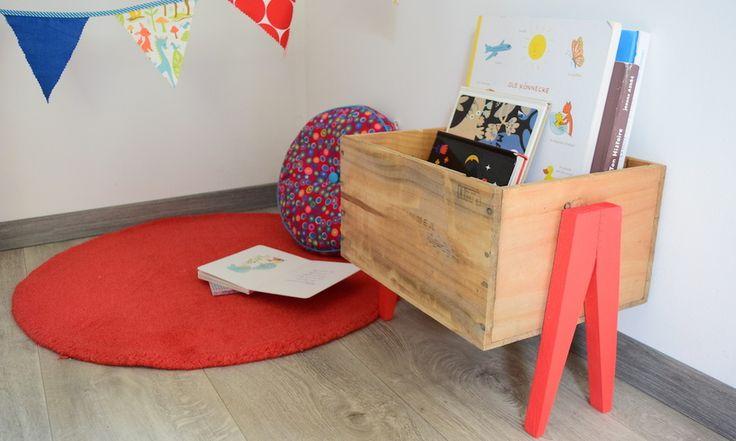 DIY : Fabriquez un bac à livres pour votre enfant