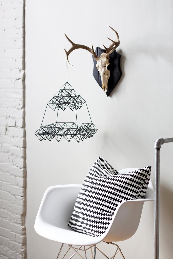 scandinavian. black and white decor