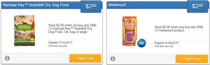 new metamucil & rachael ray dog food savingstar offers...   activate the offers or sign up for savingstar here:   http://www.iheartcoupons.net/p/savingstar-ecoupons.html   #coupons #couponing #couponcommunity #deals